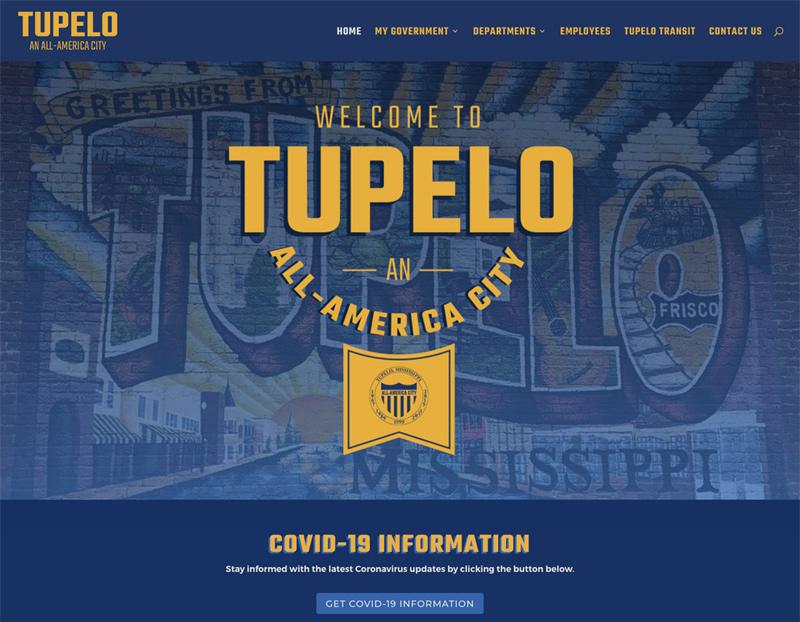 CITY OF TUPELO WEBSITE
